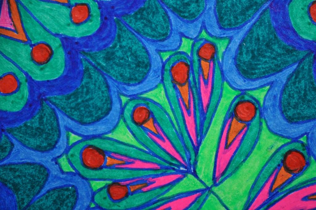 Close-up of sketchbook doodle 90 of 95