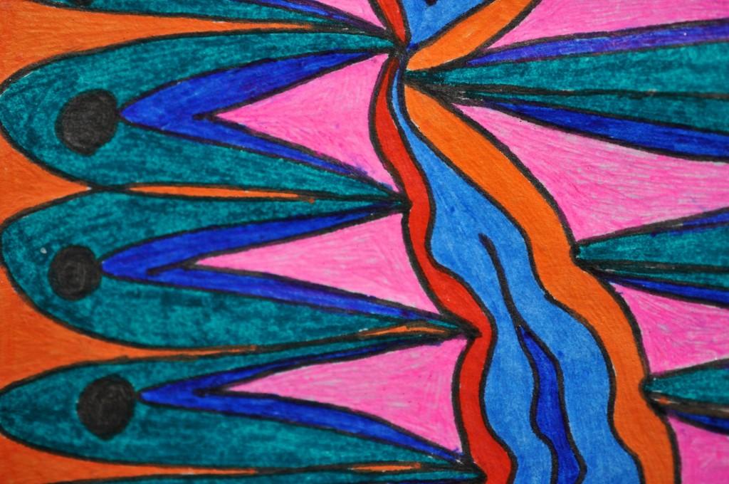 Close-up of sketchbook doodle 91 of 95