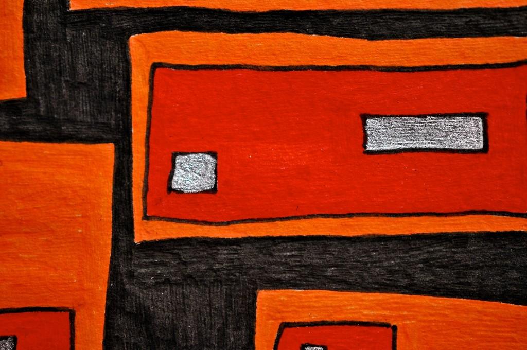 Close-up of sketchbook doodle 93 of 95